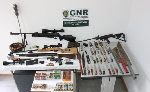 Foto de Vouzela – Detido na posse de 43 armas ilegais